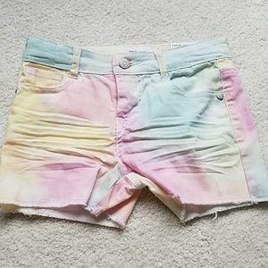 Girls pastel tie tiedye shorts